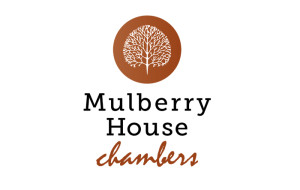 Mulberry House Chambers Logo of Mulberry Tree inside brown disc