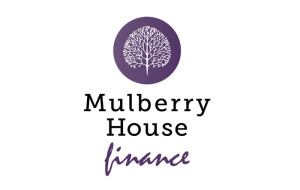 Mulberry House Finance Logo of Mulberry Tree inside mauve disc
