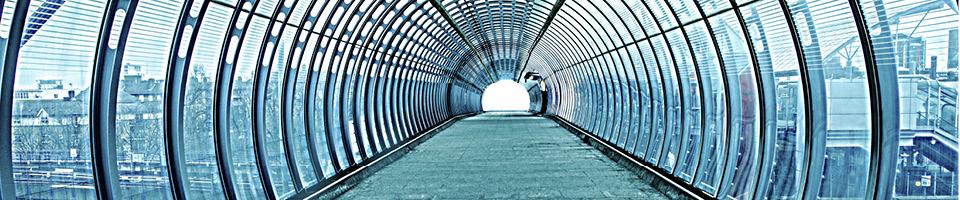 Mulberry House Properties | Glass pedestrian tunnel
